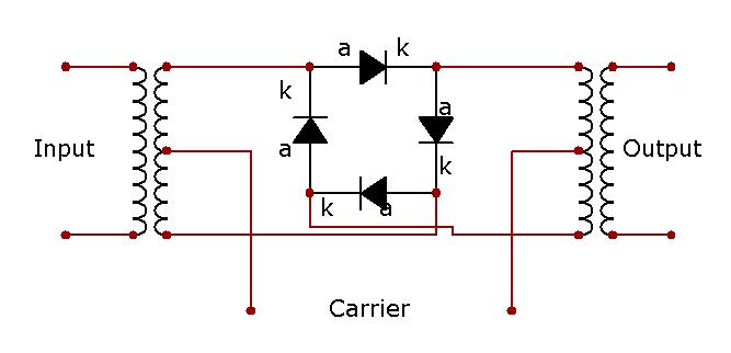 Схема кольцевого модулятора