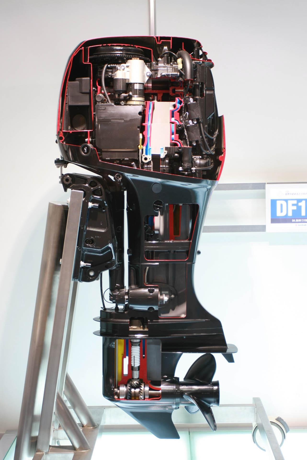 схема охложления лодочного мотора судзуки