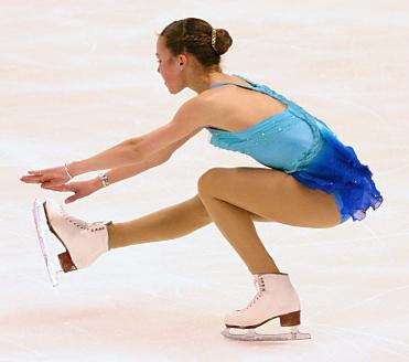 Как сделать бабочку на коньках