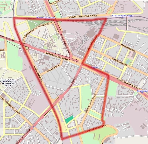 План-схема района Сокол с