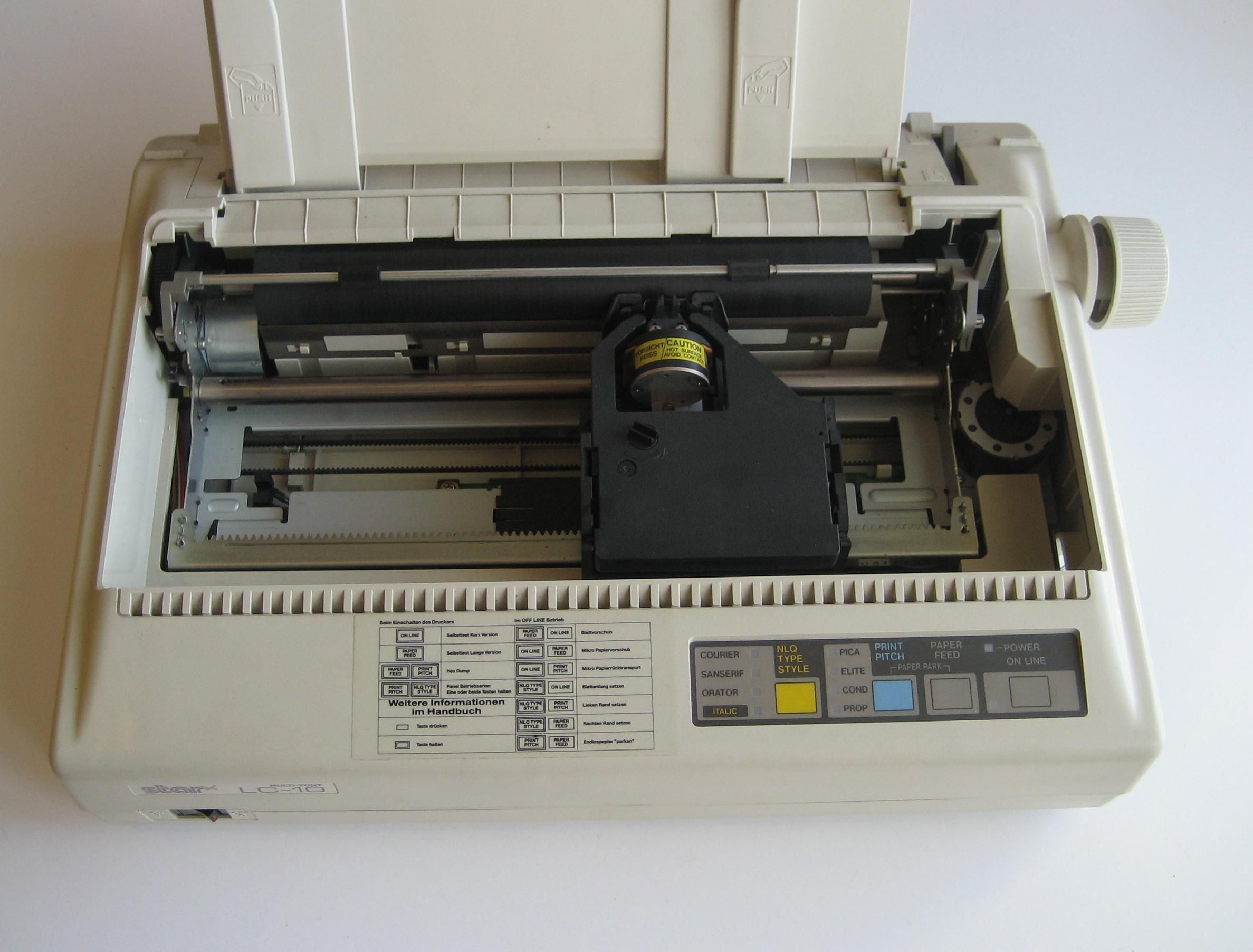 Инструкция для матричного принтера star lc 15