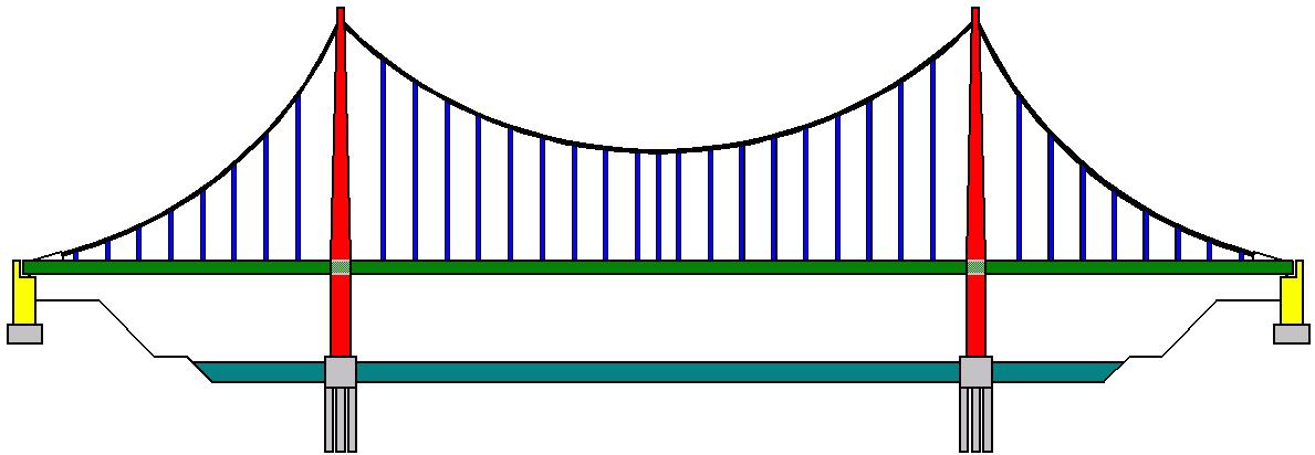 Схема конструкции висячего