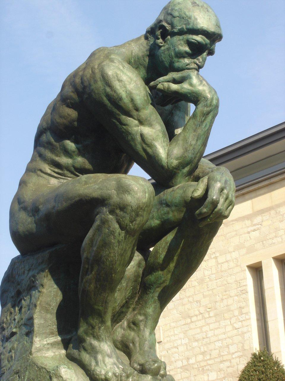 фото поза мыслителя