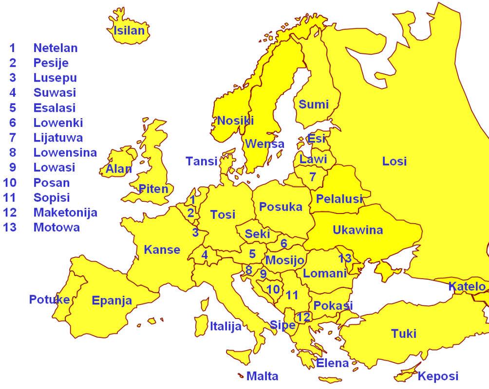 какя страна есть на буковку д в европе