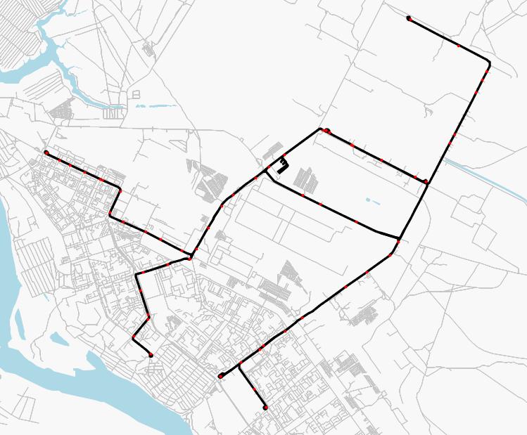Трамвайная система на карте