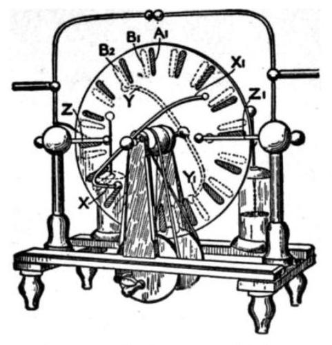 Схема электрофорной машины