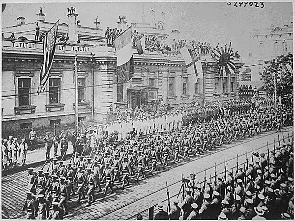 Парад интервентов во владивостоке 1918