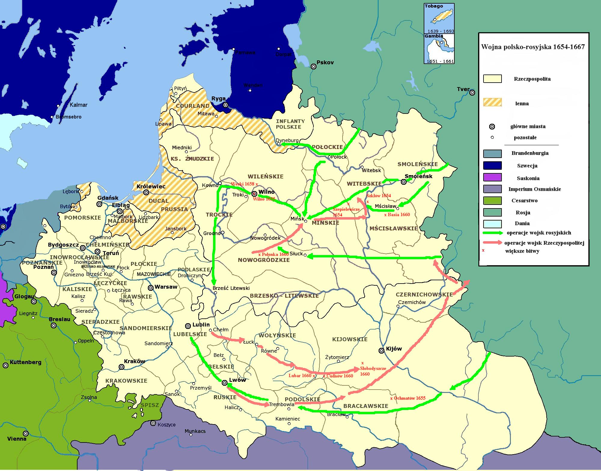 Р���копол��кая война 1654�1667 ��о Ч�о �акое Р���ко